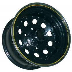 Llanta Acero Modular Negra 7x15 Offset -12 Anclaje 5x139,7