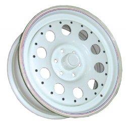 Llanta Acero Modular Blanca 8x16 Offset -24 Anclaje 6x139,7