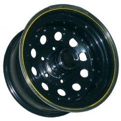 Llanta Acero Modular Negra 7x15 Offset -16 Anclaje 6x139,7