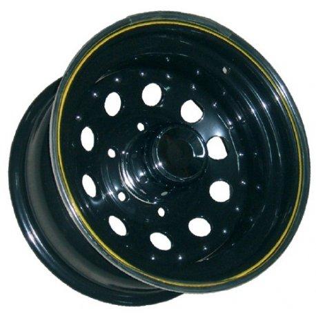 Llanta Acero Modular Negra 7x16 Offset 0 Anclaje 5x165,1
